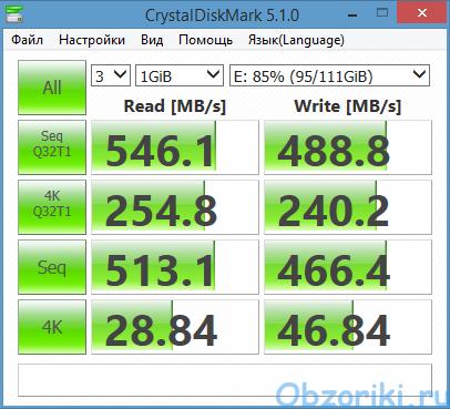 KingDian S400XT CrystalDiskMark 1000Mb