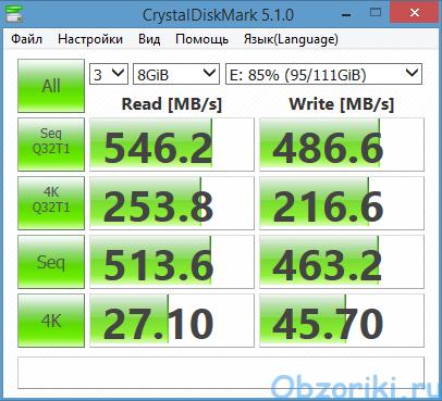 KingDian S400XT CrystalDiskMark 8000Mb