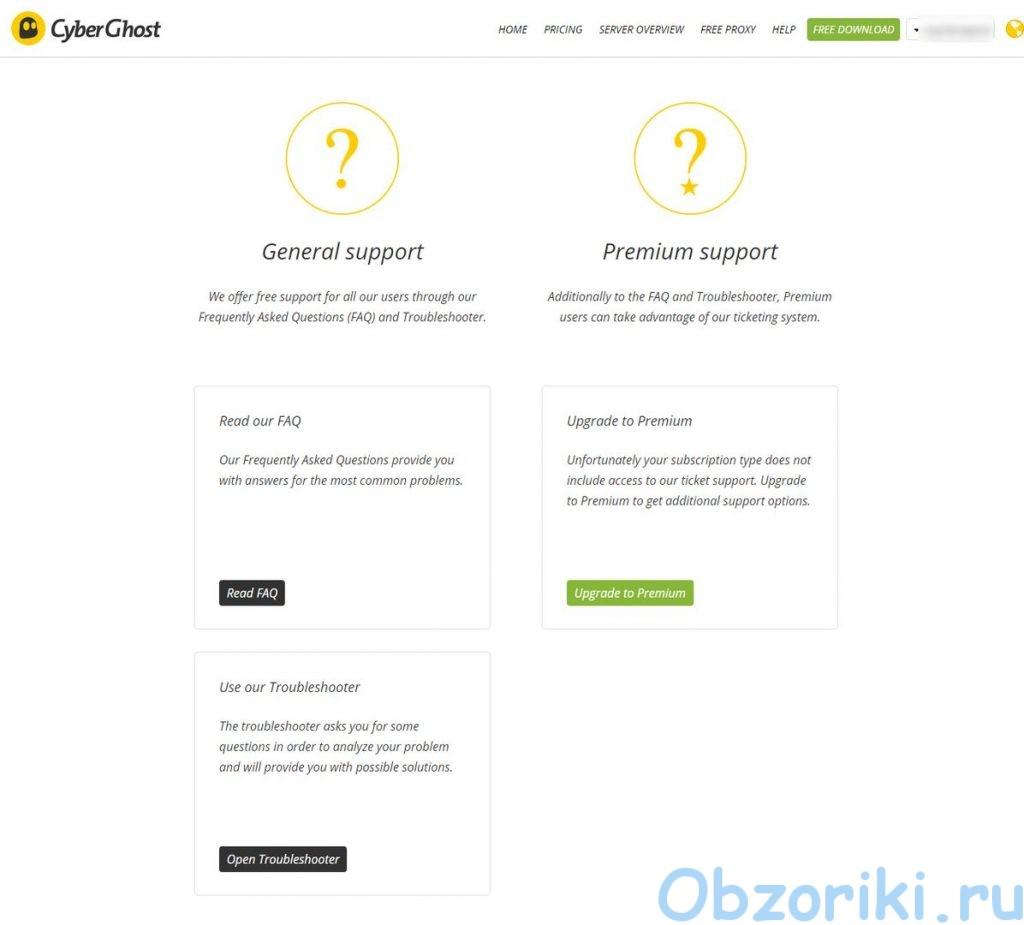 Cyberghost VPN Avvount