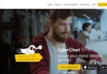 Cyberghost VPN Windows App 6 Site