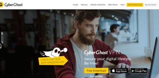 Cyberghost VPN Windows App 6 Site