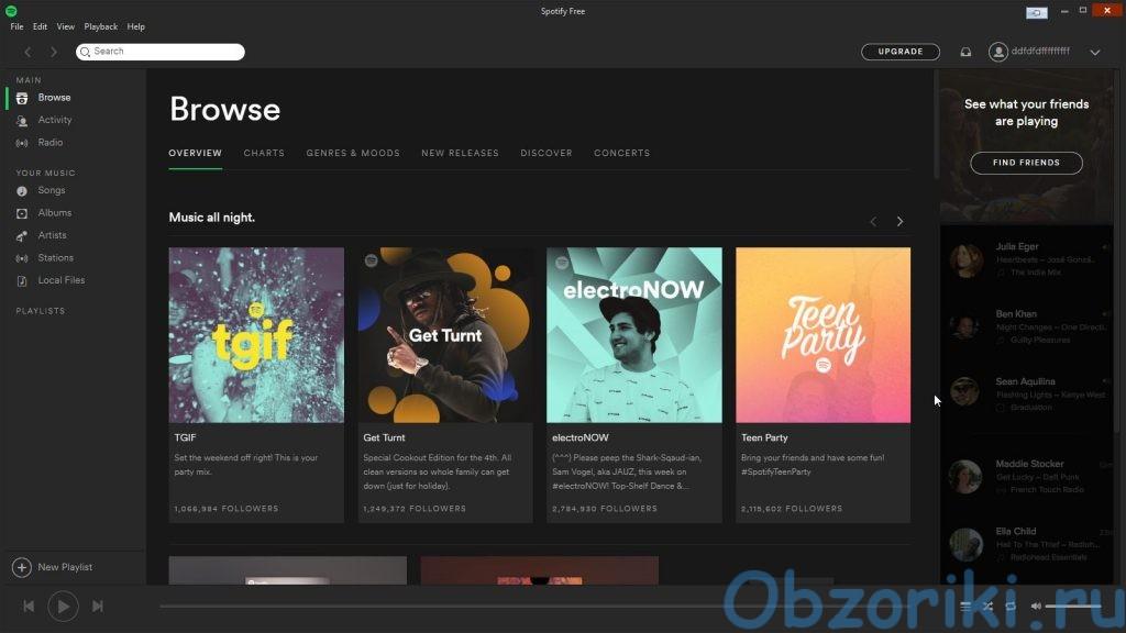 Сервис Spotify