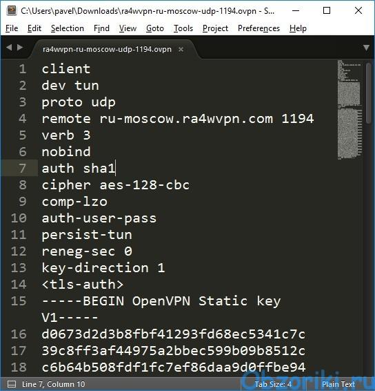 RA4W VPN OpenVPN Configs