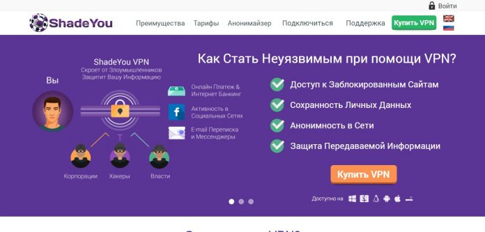 ShadeYou VPN Сайт